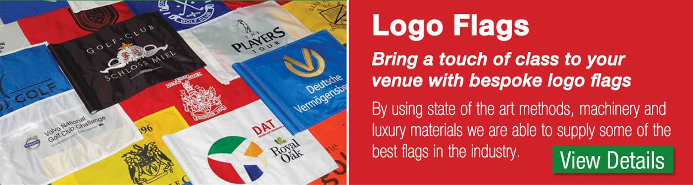 printed or embroidered golf flags
