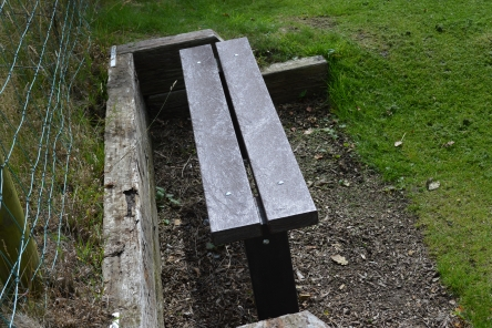1.5m recycled plastic bench seat