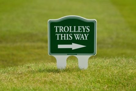 200 mm x 150 mm golf course sign green
