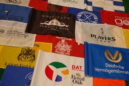 printed logo flags