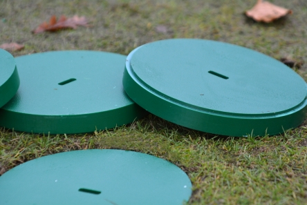 HDPE golf hole cup cover for 6 inch hole