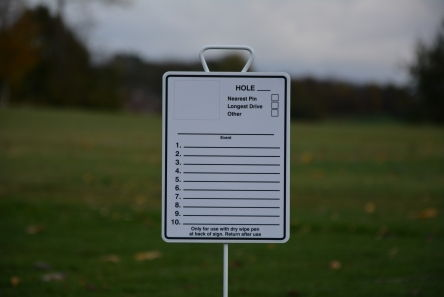 Longest Drive Amp Nearest The Pin Sign Marker Posts