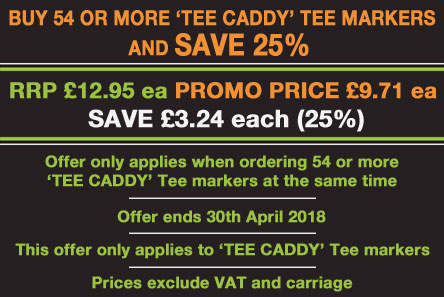 'Tee Caddy' Tee Markers Offer Offer