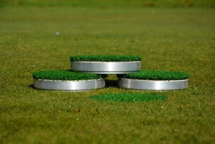 "6"" Winter Alloy Cup Cover with Grass"