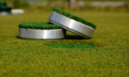 alloy cover with grass for golf hole cup