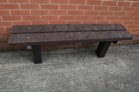 brown heavy duty plastic bench