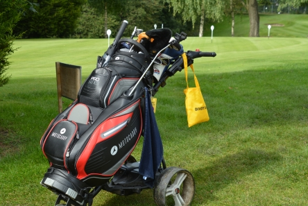 carry bag for golf course seed and divot mix