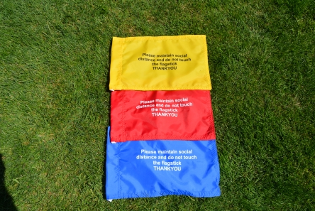 covid-19 playsafe golf flags