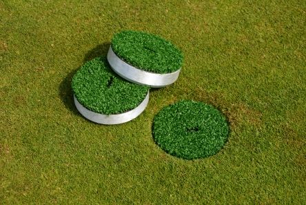 alloy cup cover with grass