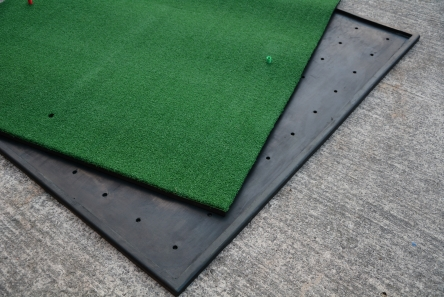 tee mat in rubber frame