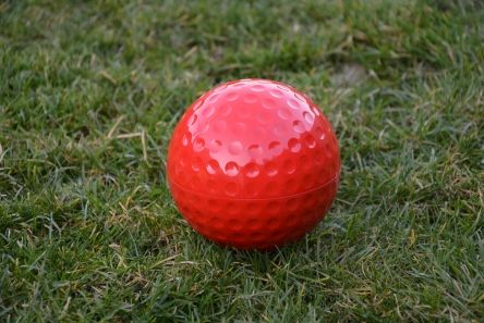 golf ball tee marker red