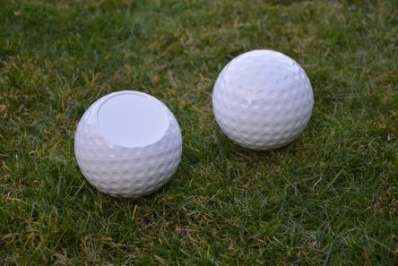 golf ball tee marker white