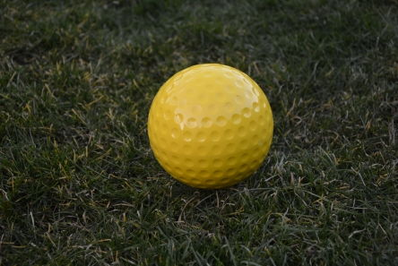 golf ball tee marker yellow