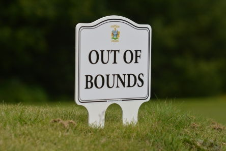 golf course ettiquette signs