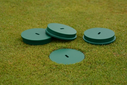 golf hole cup cover for artificial grass installations