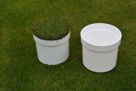 golf hole cup cover with grass