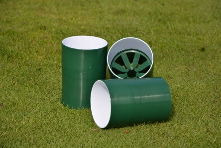 Deluxe Green & White Plastic Hole Cup