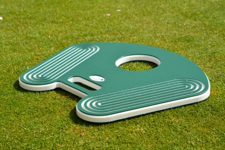 hole cutter guide for golf course manager
