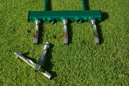 hollow tines on aeration fork frame