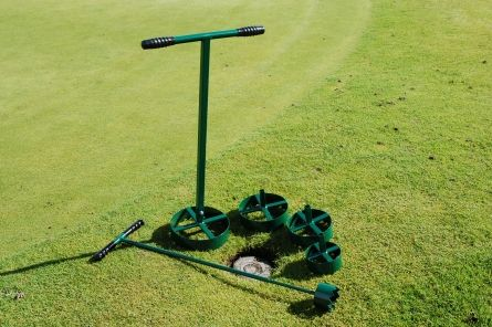 interchangeable sprinkler trimmer heads for golf course
