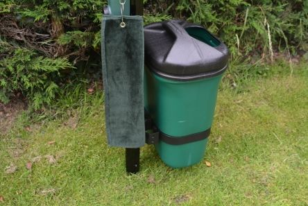litter bin and bracket for post