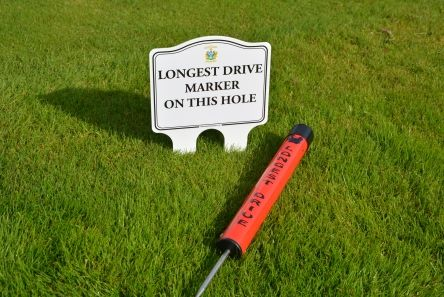 longest drive tube with sign