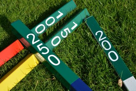2 tone distance marker posts