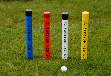 nearest the centre of the fairway marker tube for golf course