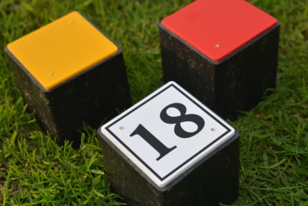 numbered recycled plastic block tee marker