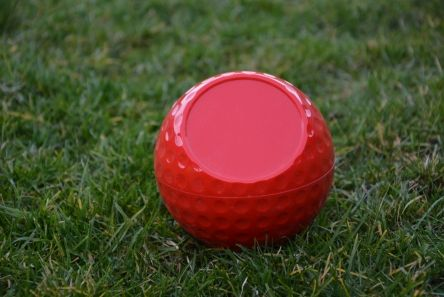 personalised dimple golf ball tee marker red