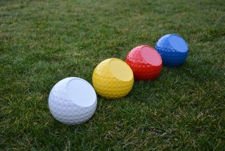personalised dimple golf ball tee markers