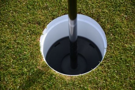 putting green flag plastic ball tray in cup
