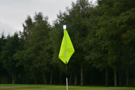 range finder targets in golf course