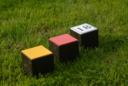 recycled plastic block tee marker
