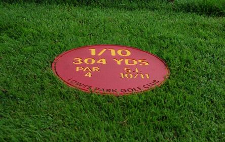 red  mow over tee info sign (2)
