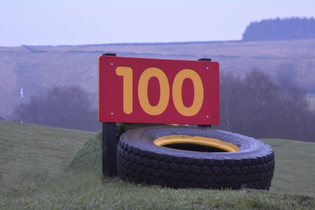 driving range distance sign