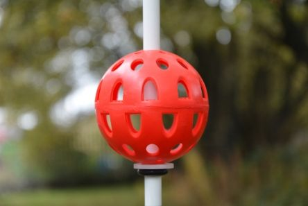 red pin placement marker ball