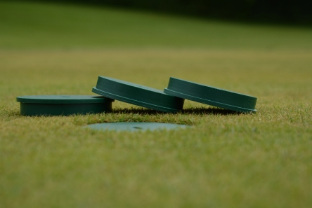 shallow golf hole cup cover