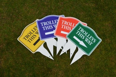 small golf course ettiquette signs