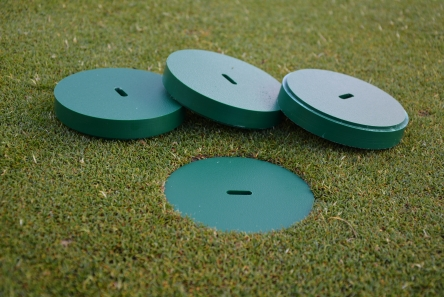 solid plastic cover for standard golf hole cup