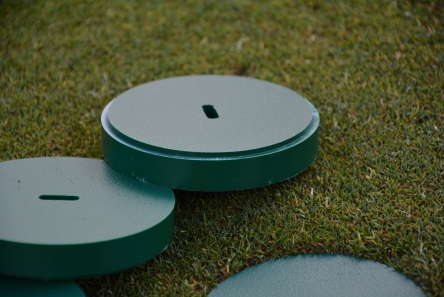 solid plastic golf hole cup cover with rebate