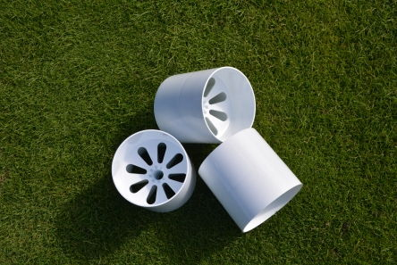 temporary winter greens golf hole cup