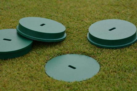 thin golf hole cup cover for artificial grass installations