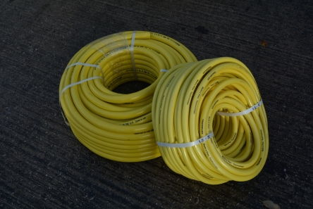three quarter inch yellow irrigation hose pipe