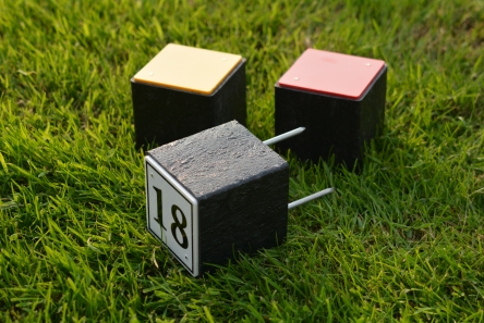 traditional tee marker in recycled material