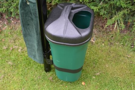 trash mate litter bin for golf ballwasher post
