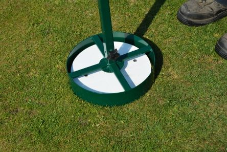turf cutter for measured point tee marker