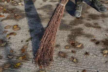 twig broom for leaf sweeping