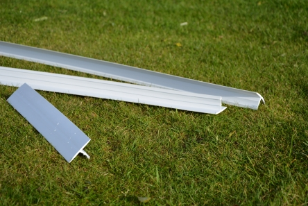white plastic strip for greens around golf course